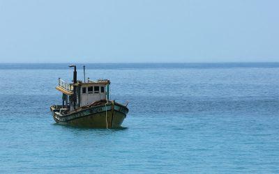 Fischerboot in Sicht