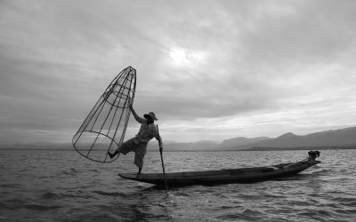 Fischer am bekannten Inlesee