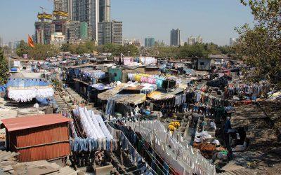 Blick auf eine Grosswäscherei